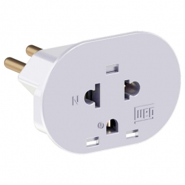 Adaptador Branco Tom 2P + T 10A 250V - WEG