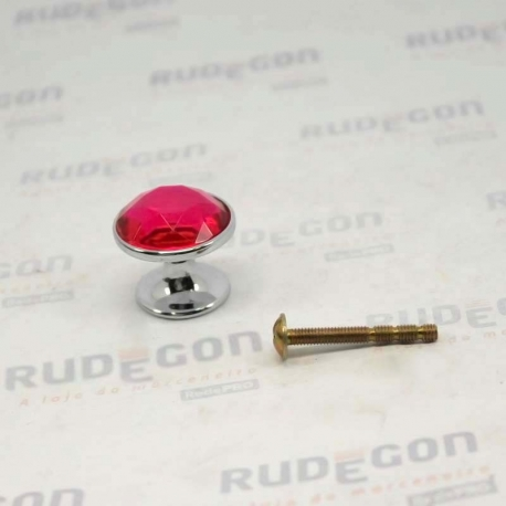 PUXADOR CRAVO 27mm PINK / CROMADO PUXE CHIC